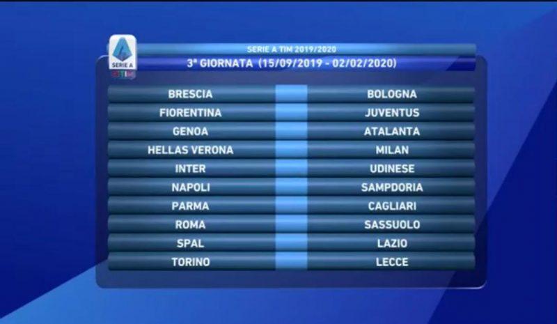 Calendario Cagliari Calcio 2020.Calendario Serie A 2019 2020 Sorteggio Live Inizia La