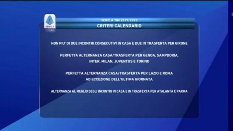 Calendario Atalanta 2020 2020.Calendario Serie A 2019 2020 Sorteggio Live Inizia La