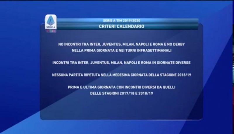 Calendario Serie A 201920 Sorteggio.Calendario Serie A 2019 2020 Sorteggio Live Inizia La